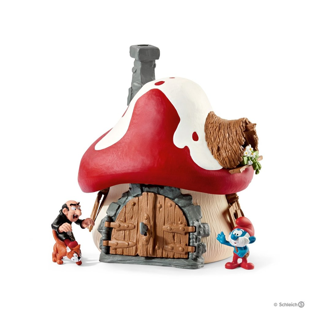 Schleich 20803 Ensemble maison de Schtroumpf et 2 figurines