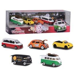 Majorette Ensemble de 5 voitures Volkswagen