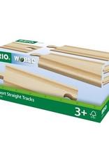 Brio Rails courts droits - 108 mm