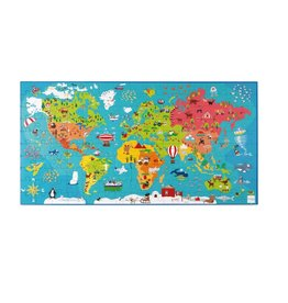 Scratch Casse-tête XXL Carte du monde 150 pièces