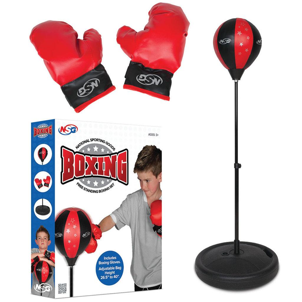ASG Ensemble de boxe de planchers avec gants