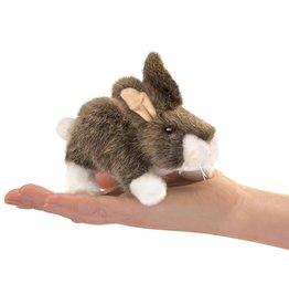 Folkmanis Marionnette à doigt Lapin à queue blanche