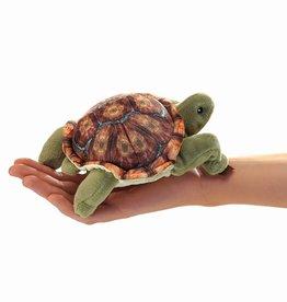 Folkmanis Marionnette à doigt tortue à carapace brune