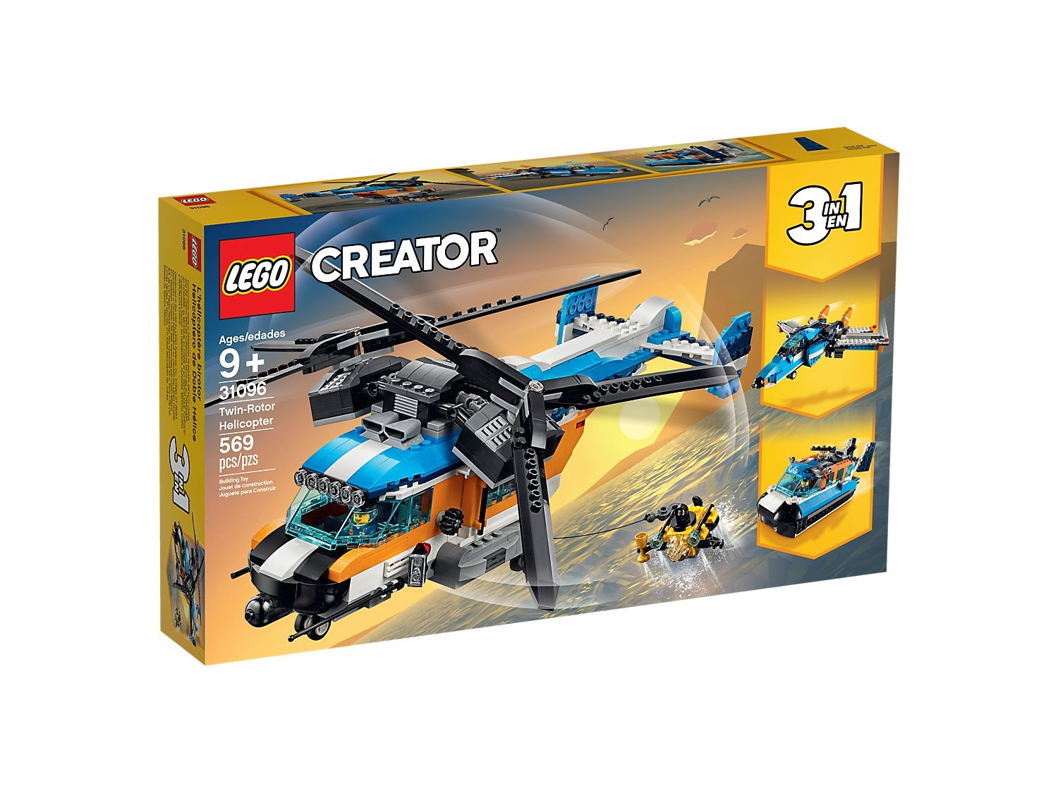 Lego Creator 31096 L Helicoptere Birotor Ojeux
