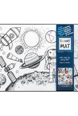 Funny Mat Tapis à colorier Espace