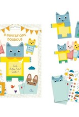 Djeco Cartes d'invitation Doudous