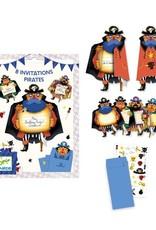 Djeco Cartes d'invitation Pirates