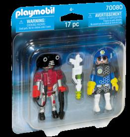 Playmobil 70080 Policier de l'espace et robot