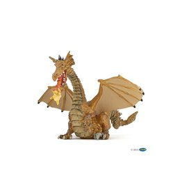 Papo 39095 Dragon or avec flamme