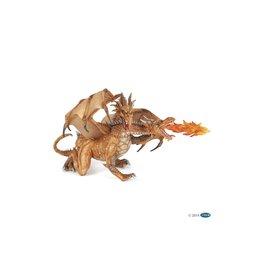 Papo 38938 Dragon à deux têtes or