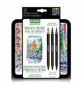 Crayola Marqueurs Double Pointe Pinceaux