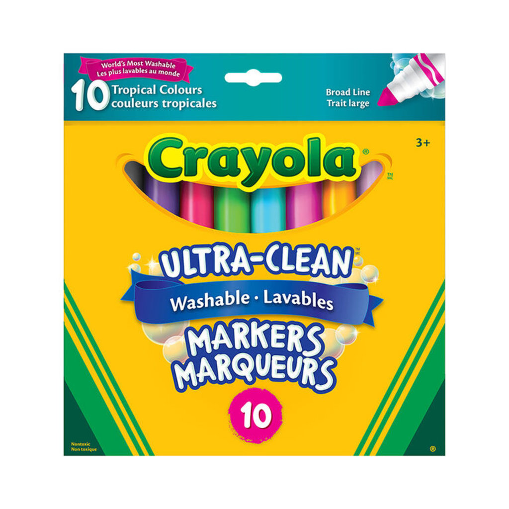 Crayola 10 marqueurs ultra-lavables tropical