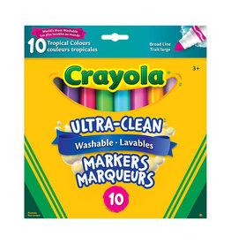 Crayola 10 marqueurs ultra-lavables tropical