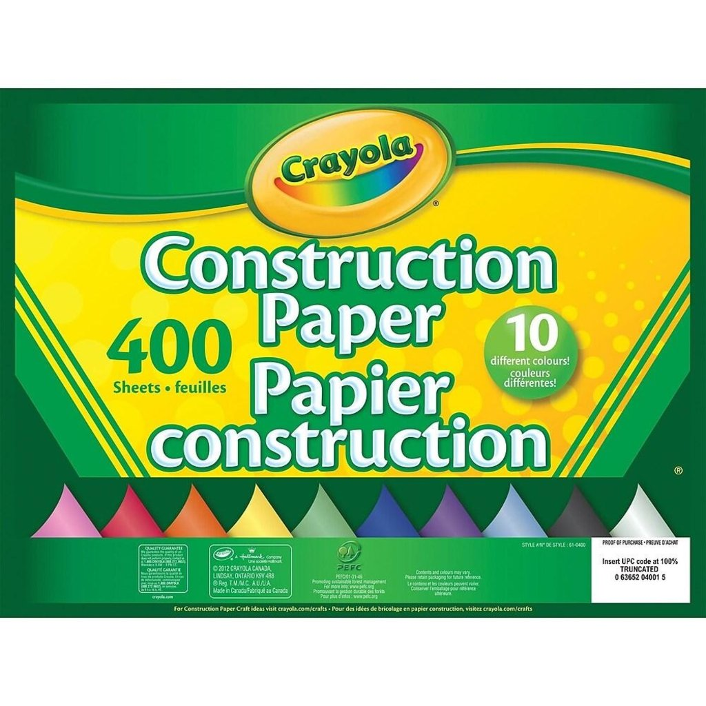 Crayola Papier construction de 400 pages