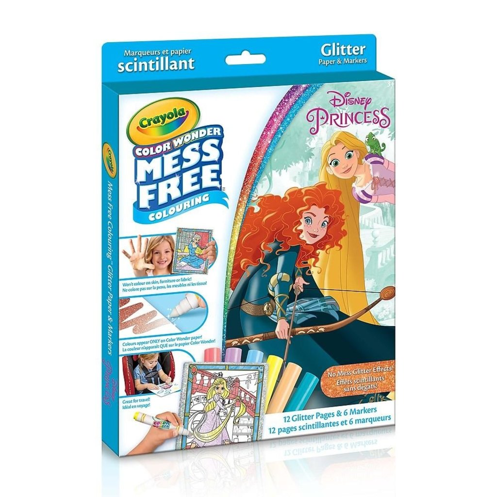 Crayola Ensemble scintillant de princesses Color Wonder