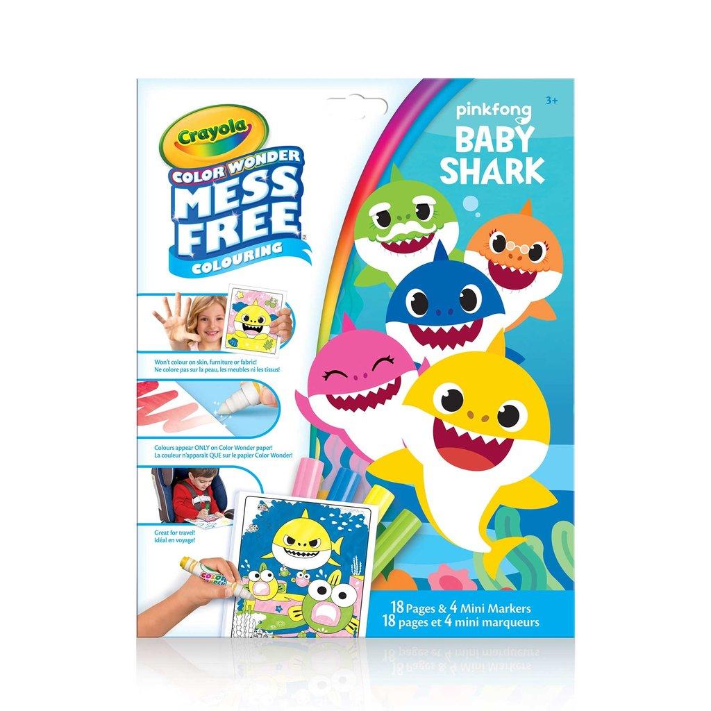 Crayola Pages à colorier et mini marqueurs Baby shark
