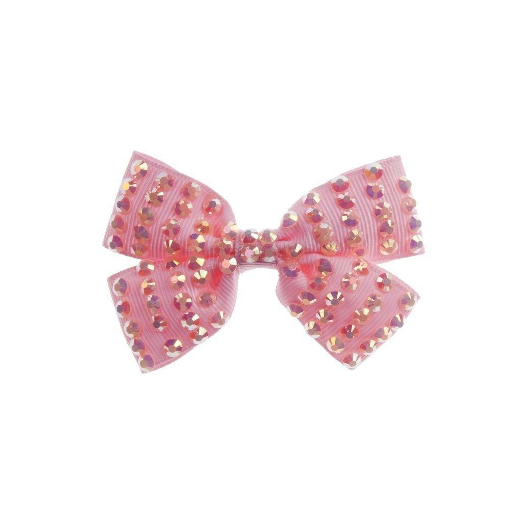 Great Pretenders Clip pour cheveux noeuds roses avec diamants