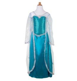 Great Pretenders Robe reine des neige & cape 3-4 ans