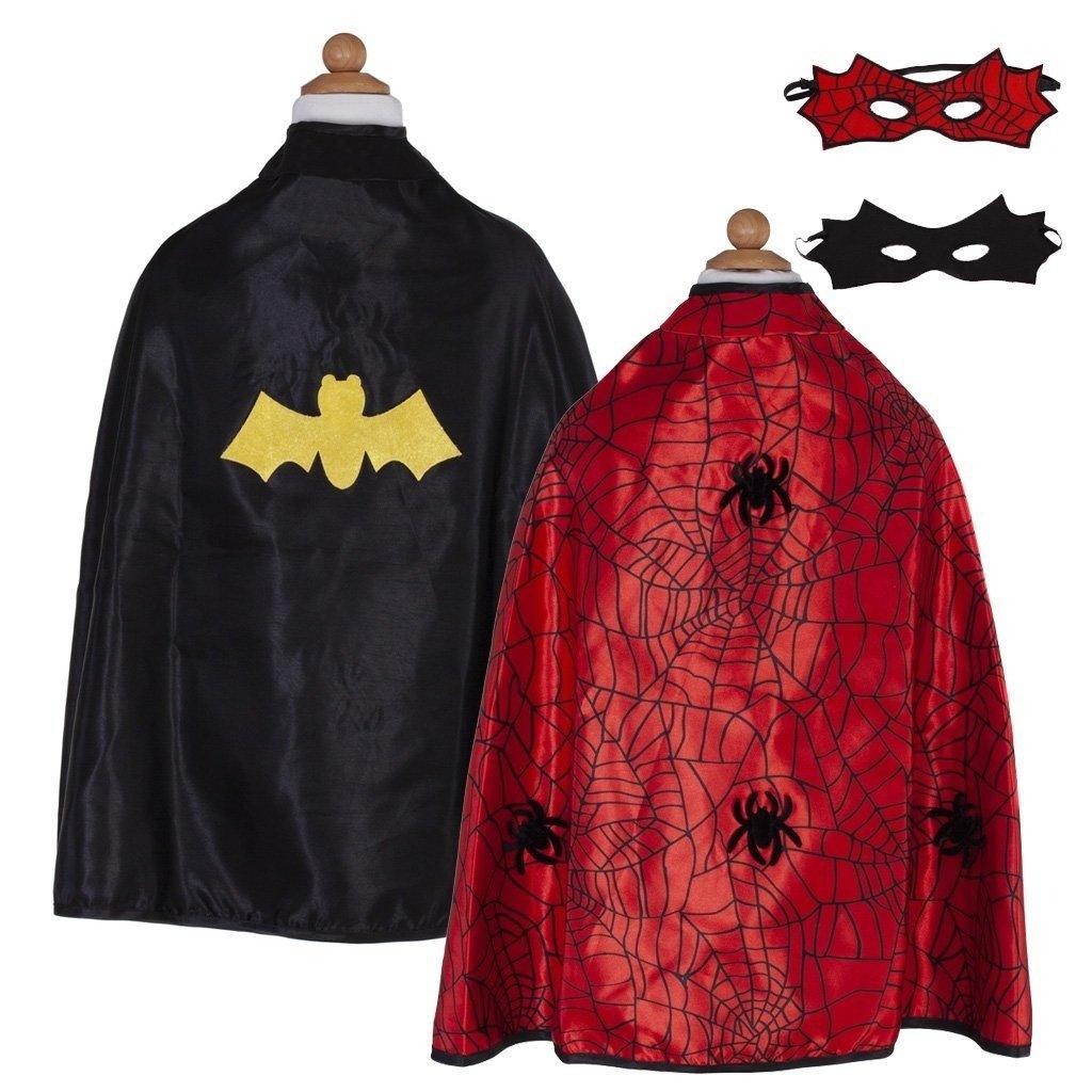 Great Pretenders Cape reversible spider-man/batman 4-6 ans