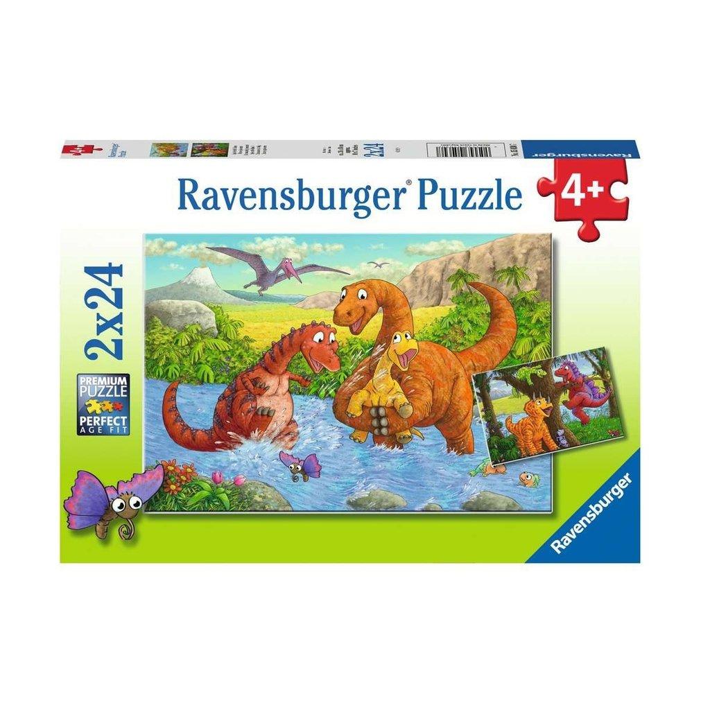 Ravensburger Dinos joueurs 2 x 24 pc Puzzles