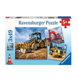 Ravensburger Véhicules de chantier en serv. 3x49pc
