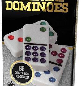 Cardinal Domino Double 9 à Points de Couleurs