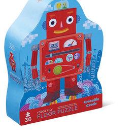 Crocodile Creek Casse-tête Robot ville 36 pièces
