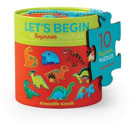 Crocodile Creek Casse-tête  2 mcx de 10 pcs dinosaures