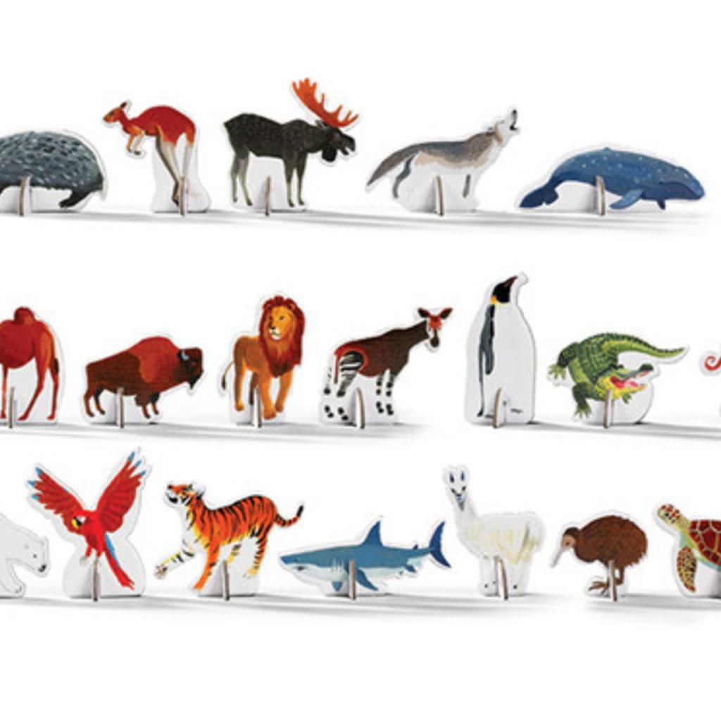Crocodile Creek Casse-tête  découverte Monde animals  100 pieces