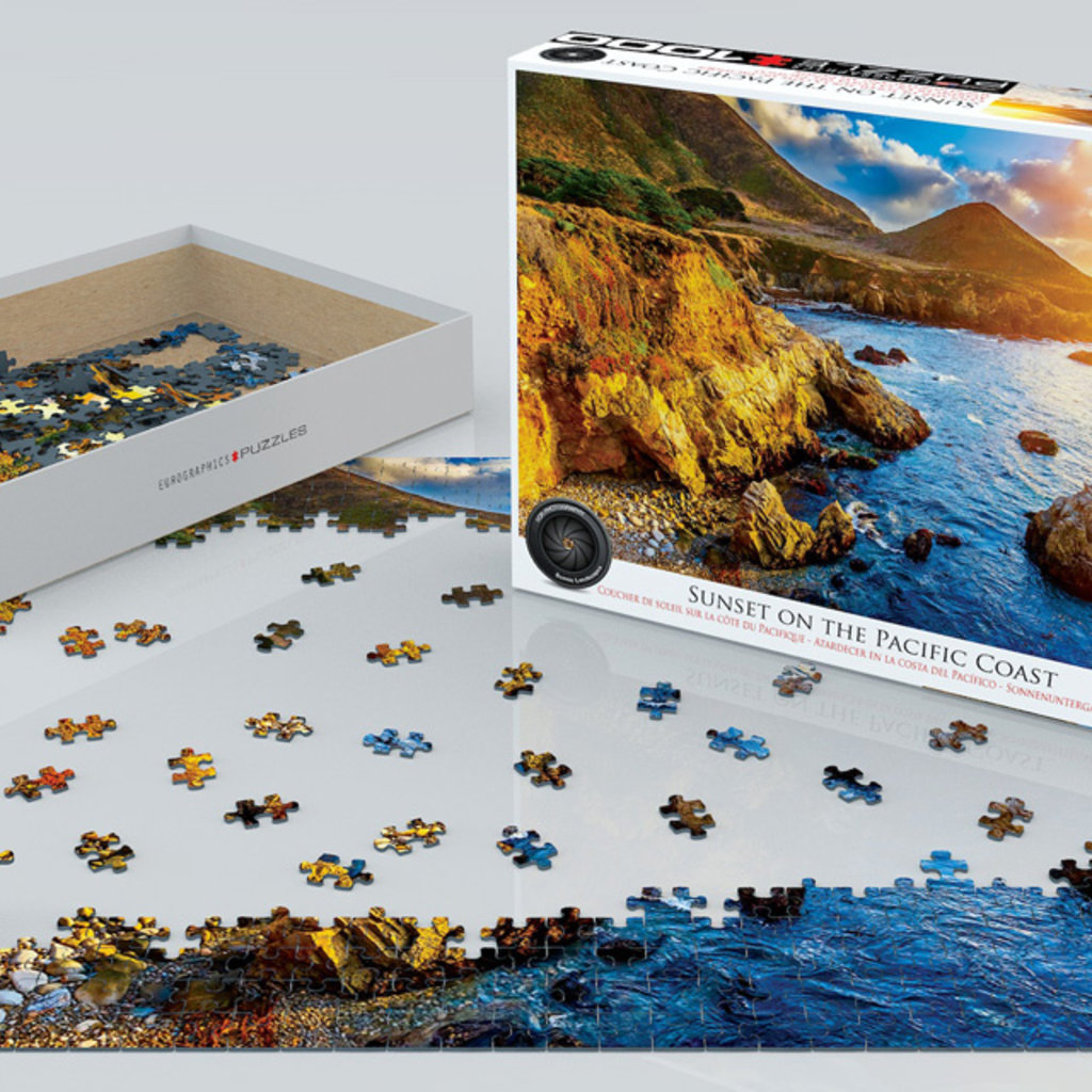 Eurographics Coucher de soleil sur la côte du Pacifique 1000 pièces