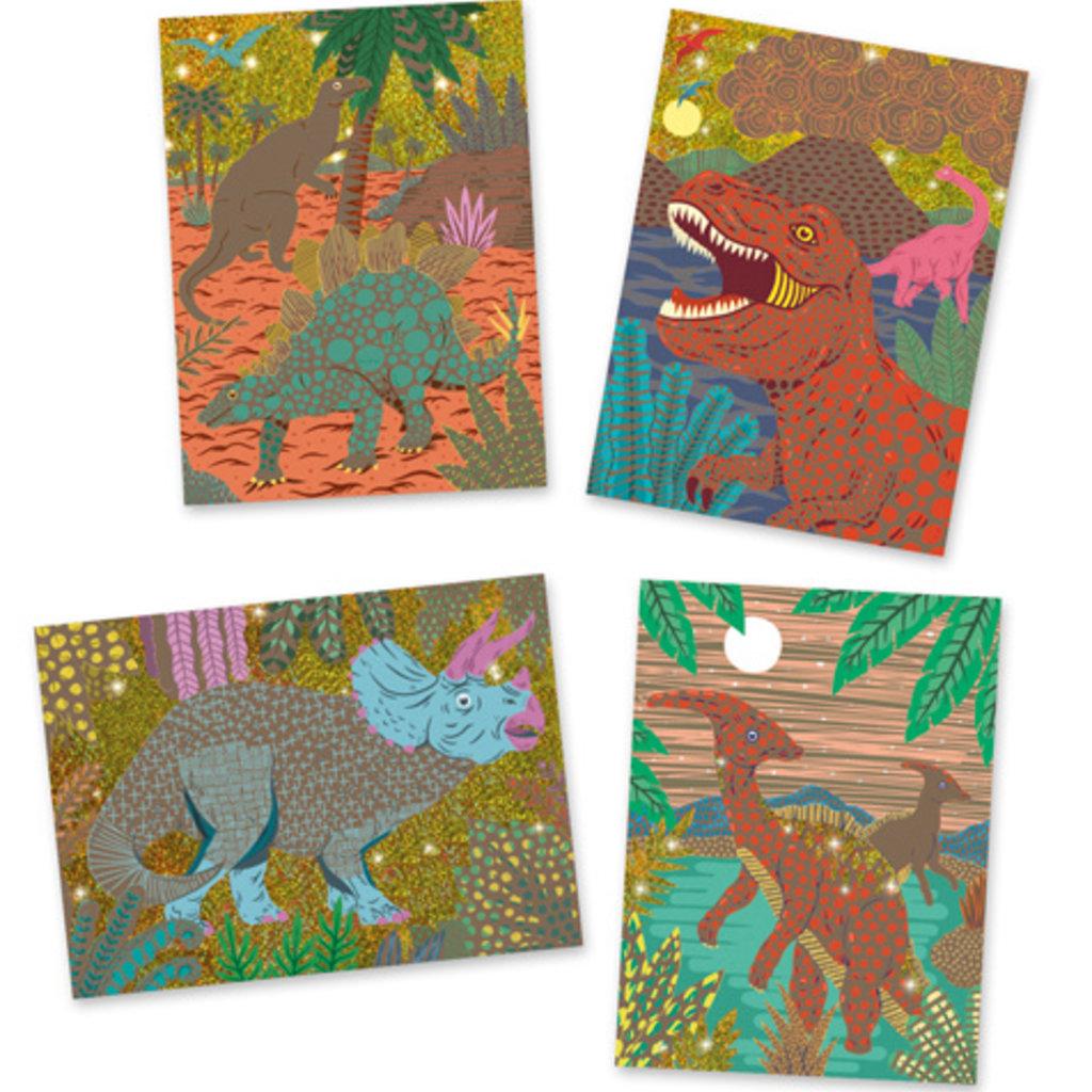 Djeco Cartes à gratter  Le règne des dinosaures