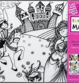Funny Mat tapis pour colorier princesse