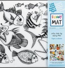 Funny Mat Tapis pour colorier poisson