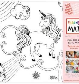 Funny Mat Tapis pour colorier  Licorne