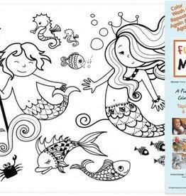 Funny Mat Tapis pour colorier Sirène