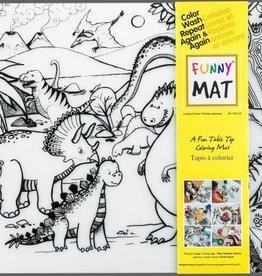 Funny Mat Tapis pour colorier jurassic