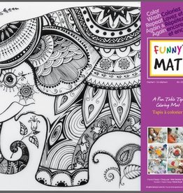 Funny Mat Tapis pour colorier Éléphant