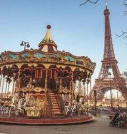 Jumbo Le carousel et la  tour Eiffel, Paris, France 1000 pièces