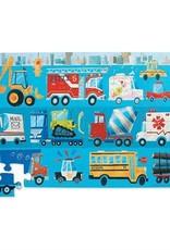 Crocodile Creek Puzzle de plancher-véhicule  36 pieces