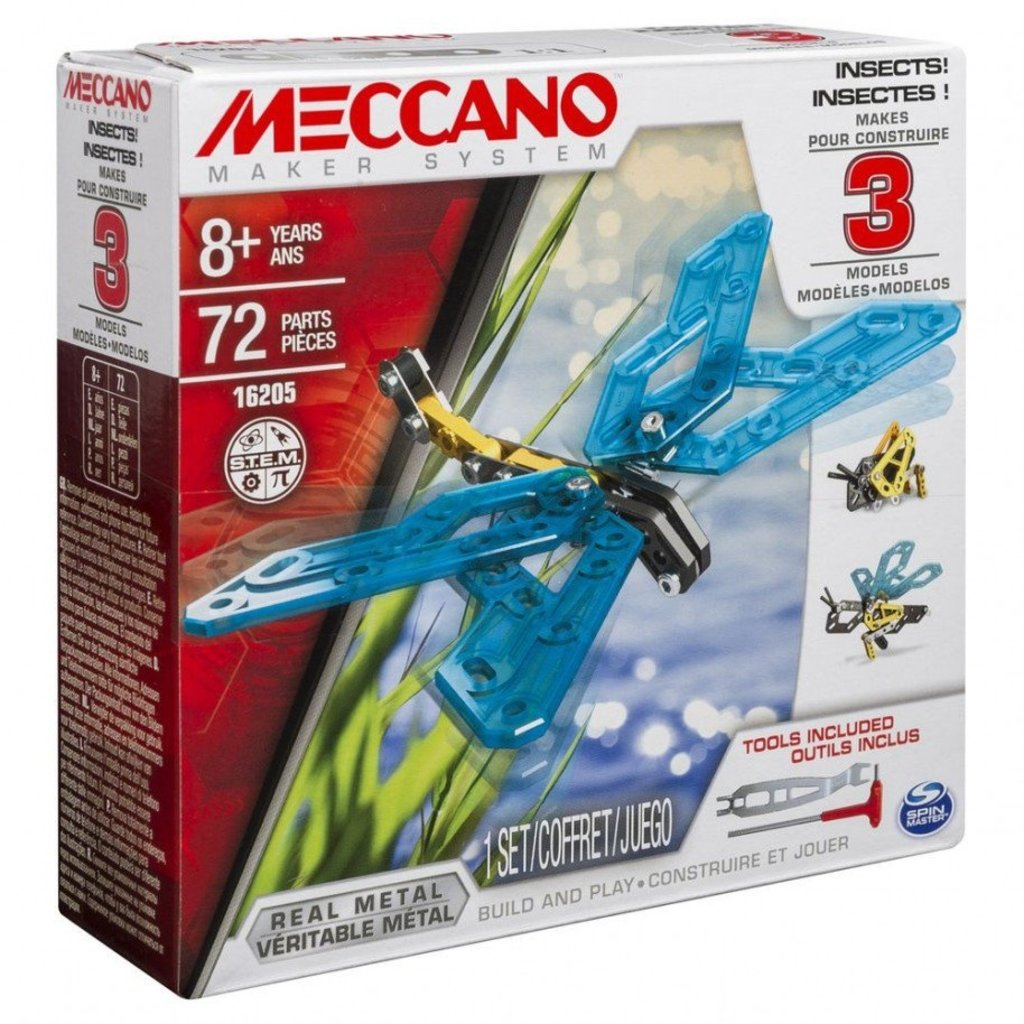 Meccano Ensemble 3 modèles  insectes