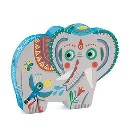Djeco Puzzle silhouette éléphant