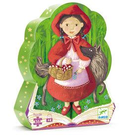Djeco Puzzle silhouette Chaperon rouge 36 pcs