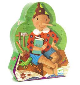 Djeco Puzzle silhouette Pinocchio 50 pcs