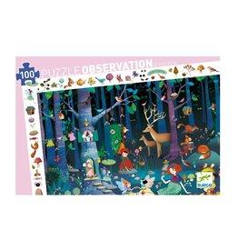 Djeco Puzzle observation Forêt enchantée