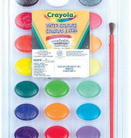 Crayola Ensemble 24 couleurs à l'eau lavables