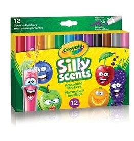 Crayola 12 Marqueurs Parfumés à pointe biseautée