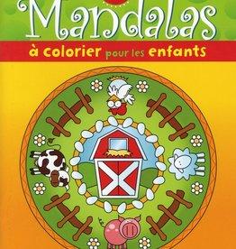Boomerang 15 mandalas à colorier pour les enfants (la ferme)