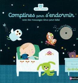 NATHAN Comptines pour s'endormir : avec des massages doux pour bébé