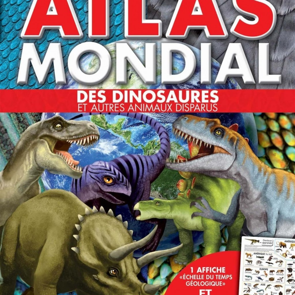 MEGA EDITIONS Atlas mondial des dinosaures