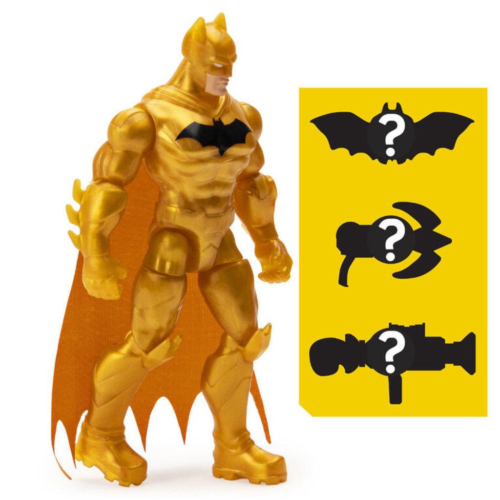 Spin Master BATMAN, Figurine articulée BATMAN Défenseur de 10 cm avec 3 accessoires mystère, Mission 1